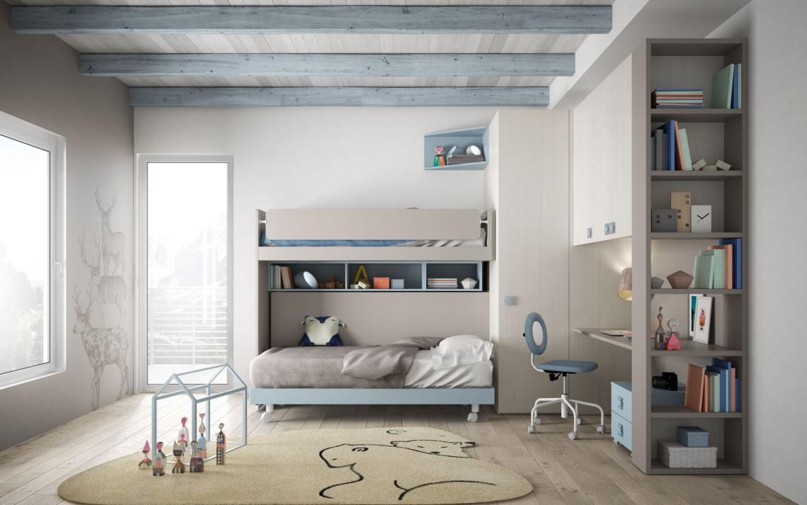 AZ Arreda - Camerette moderne - Letto salvaspazio 40